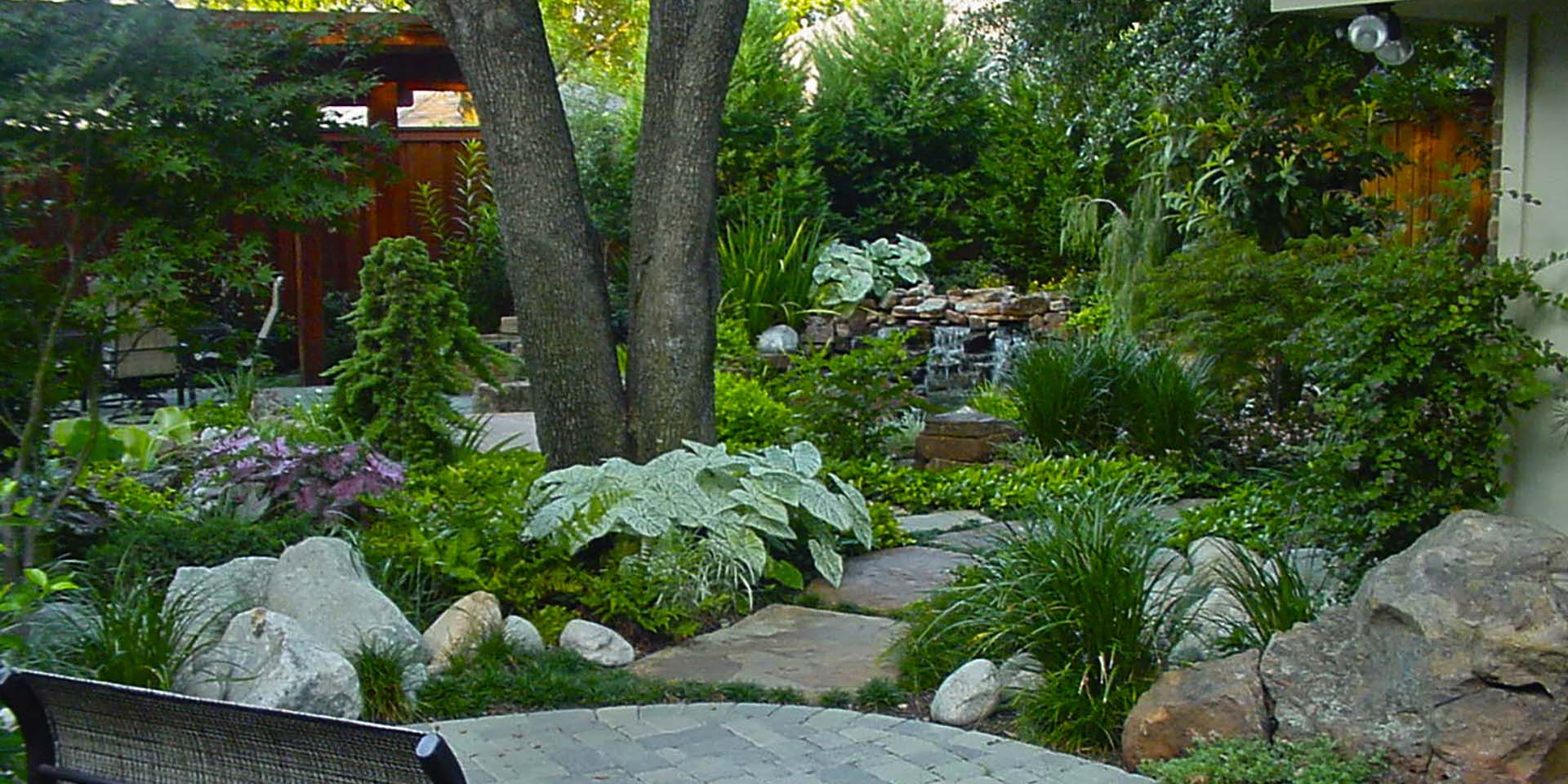 landscape natural courtyard patio pavers Original Landscape Concepts Inc