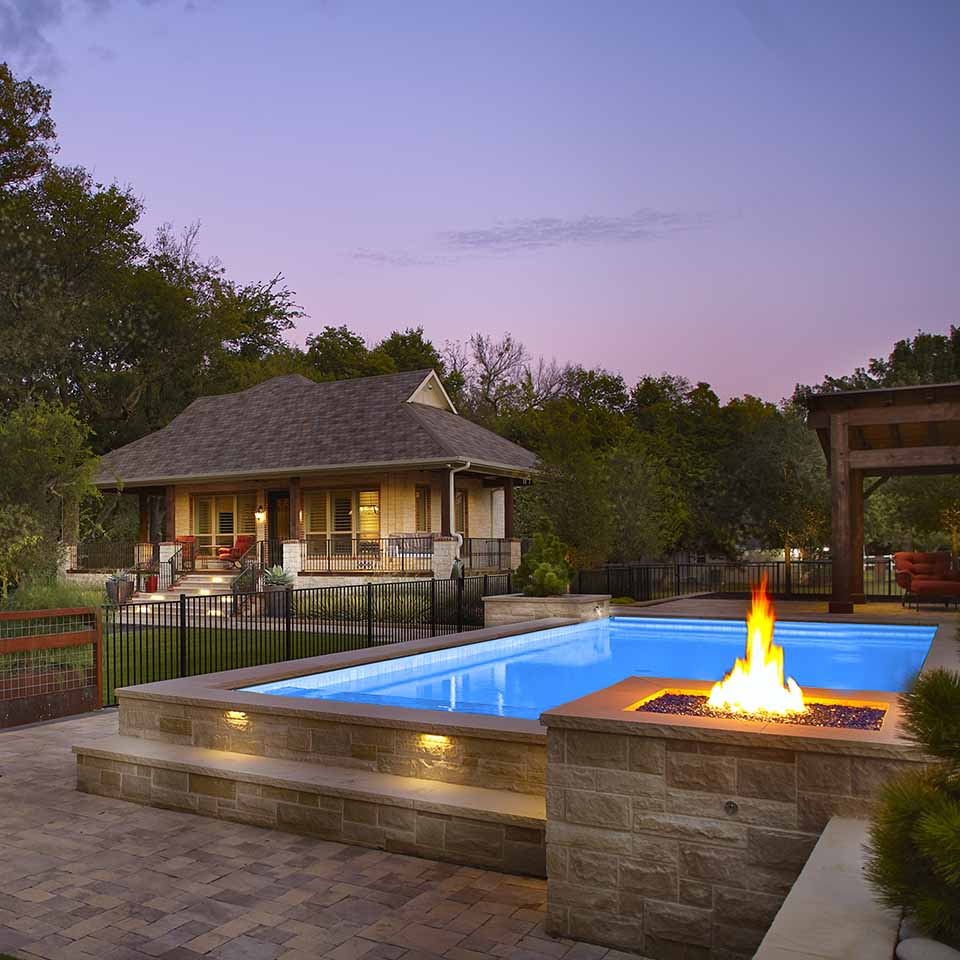 modern pool residential landscape architect design build Original Landscape Concepts